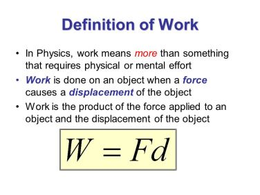 Definition+of+Work+In+Physics,+work+means+more+than+something+that+requires+physical+or+mental+effort.